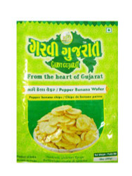 Garvi Gujarat - Black Pepper Banana Wafer - 180g (pack of 3)