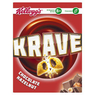 Kellogg's Krave Cereal Chocolate Hazelnut - 375g - Single Pack (375g x 1 Box)