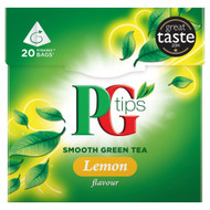 PG Tips Pure Green Tea Lemon - 20's - Pack of 2 (20's x 2)