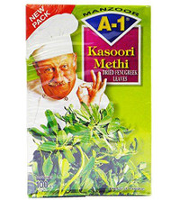 A1 - Dried Fenugreek Leaves (kasoori methi) 100g box