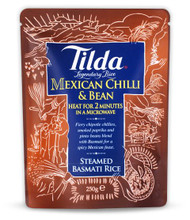 Tilda Steamed Basmati Mexican Chilli & Bean Rice - 250g