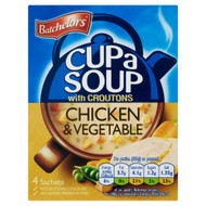 Batchelors Cup A Soup Chicken & Vegetable - 110g - Pack of 4 (110g x 4)