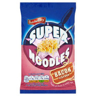 Batchelors Super Noodles Bacon Flavour - 100g - Pack of 4 (100g x 4)