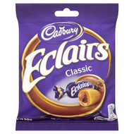 Cadburys Chocolate Eclair Bag  - 130g - Pack of 6 (130g x 6 Bags)