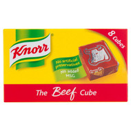 Knorr Beef Stock 8 Cubes - 80g - Pack of 8 (80g x 8)