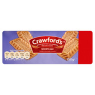 Crawfords Golden Shortcake Biscuits - 150g - Pack of 4 (150g x 4)