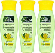 Dabur Vatika Lemon Shampoo Pack of 3 - 200ml