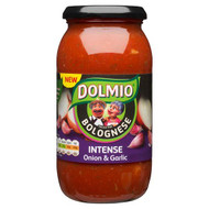 Dolmio Intense Onion & Garlic Bolognese Sauce - 500g - Single Jar (500g x 1 Jar)