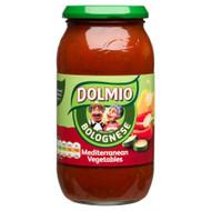 Dolmio Mediterranean Vegetable Bolognese Sauce - 500g - Single Jar (500g x 1 Jar)