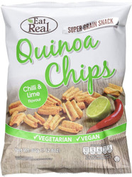 Eat Real Chilli & Fresh Lime Quinoa Chips Pack of 12 -12 x 80g