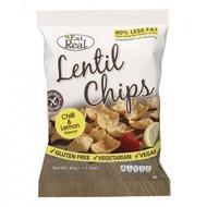 Eat Real Chilli & Lemon Lentil Chips Pack of 20 -20 x 40g