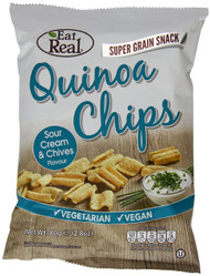 Eat Real Sour Cream & Chive Quinoa Chips 12 Pack -12 x 80g