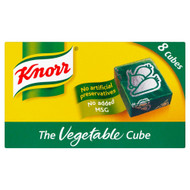 Knorr Vegetable Stock 8 Cubes - 80g - Pack of 4 (80g x 4)