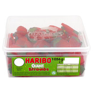 Haribo Giant Strawbs - 996g - Approx 120 Pieces