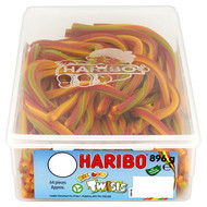 Haribo Rainbow Twists - 896g - Approx 64 Pieces