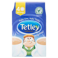 Tetley Original Tea Bags - 40's - Pack of 2 (40's x 2)
