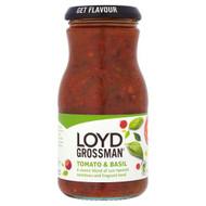 Loyd Grossman Tomato & Basil Sauce - 350g - Pack of 2 (350g x 2 Jars)