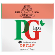 PG Tips Decaf Tea Bags - 40's - Pack of 4 (40's x 4)