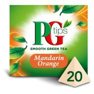 PG Tips Mandarin Orange Green Tea - 20's - Pack of 2 (20's x 2)