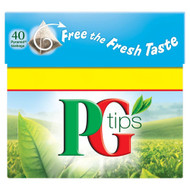 PG Tips Tea Bags - 40's Pack of 4 (40's x 4)
