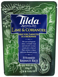 Tilda Steamed Basmati Lime and Corriander Rice -6 x 250g