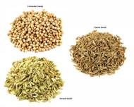 Jalpur Millers Spice Combo Pack - Cumin Seeds 100g - Coriander Seeds 100g - Fennel Seeds 100g (3 Pack)