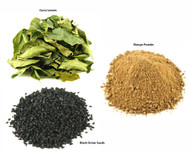 Jalpur Millers Spice Combo Pack - Black Onion Seeds 100g - Dry Mango Powder 100g - Dried Curry Leaves 50g (3 Pack)