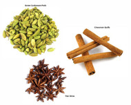 Jalpur Millers Spice Combo Pack - Green Cardamom Pods 50g - Star Anise 100g - Cinnamon Quills 100g (3 Pack)