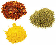 Jalpur Miller Spice Combo Pack - Crushed Red Chilli Pepper Flakes 100g - Oregano 100g - Turmeric Powder 100g (3 Pack)