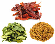 Jalpur Miller Spice Combo Pack - Fenugreek Seeds 100g - Dried Curry Leaves 50g - Dried Kashmiri Chillies 50g (3 Pack)