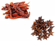 Jalpur Millers Spice Combo Pack - Dried Kashmiri Chillies 100g - Star Anise 100g (2 Pack)