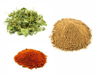 Jalpur Millers Spice Combo Pack - Dried Fenugreek Leaves 50g - Dried Mango Powder 100g - Kashmiri Chilli Powder 100g (3 Pack)