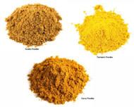 Jalpur Millers Spice Combo Pack -  Curry Powder 500g - Cumin Powder 200g - Turmeric Powder 200g (3 Pack)