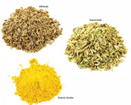 Jalpur Millers Spice Combo Pack - Dill Seeds 100g - Tumeric Powder 100g - Fennel Seeds 100g (3 Pack)