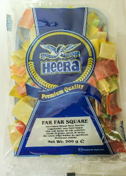 Heera - Far Far Squares (Uncooked Wheat Snack) - 200g