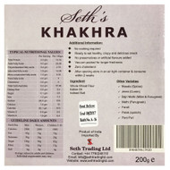Seth's - Khakhara Authentic Crispy Snack - Plain Flavour - 200g