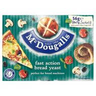 McDougalls - Bread Yeast 8 x 7g sachets - 56g net weight (Pack of 2)