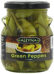 Aleyna - Green Peppers & Hot Chillies in Vinegar Combo - 275g (Pack of 2)