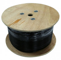 305M Cat6 UTP Black SOLID External Cable Roll PE Jacket