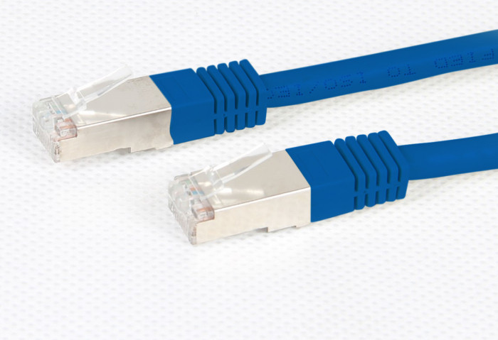 Cat 6A Blue STP 10G Patch Lead 500MHz