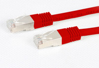 Cat6A Red STP 10G Patch Lead 500Mhz