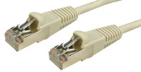 Cat5E Beige Shielded Twisted Pair (STP) Patch Lead