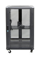 18RU network server rack cabinet 600mm deep - front
