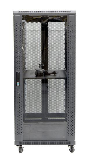 27RU network server rack cabinet 1000mm deep - front