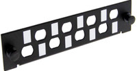 ST Simplex/ FC Simplex 8 Port Plate Unloaded, For Use with FPP3P & FCP-MOD