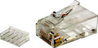 Cat 6 RJ-45 Plug 20pc Bag 8P8C 2 Piece Modular Plug (Rounded Solid)
