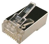 RJ-45 Plug 100pc Jar 8P8C Shielded Modular (Round,Stranded)