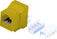 Cat6 Keystone RJ-45 Jack for 110 Face Plate - Yellow Colour