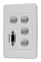 Single VGA Face Plate with 4x Ports & 4x Blank Fillers
