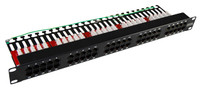 "50 Port 19"" Voice Rated Patch Panel Unshielded"